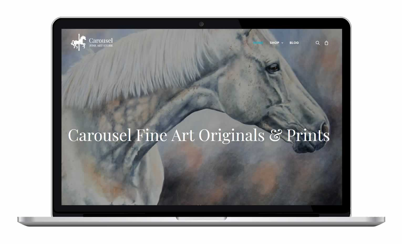 Carousel Fine Art - Equestrian and Equine Art Ecommerce Website