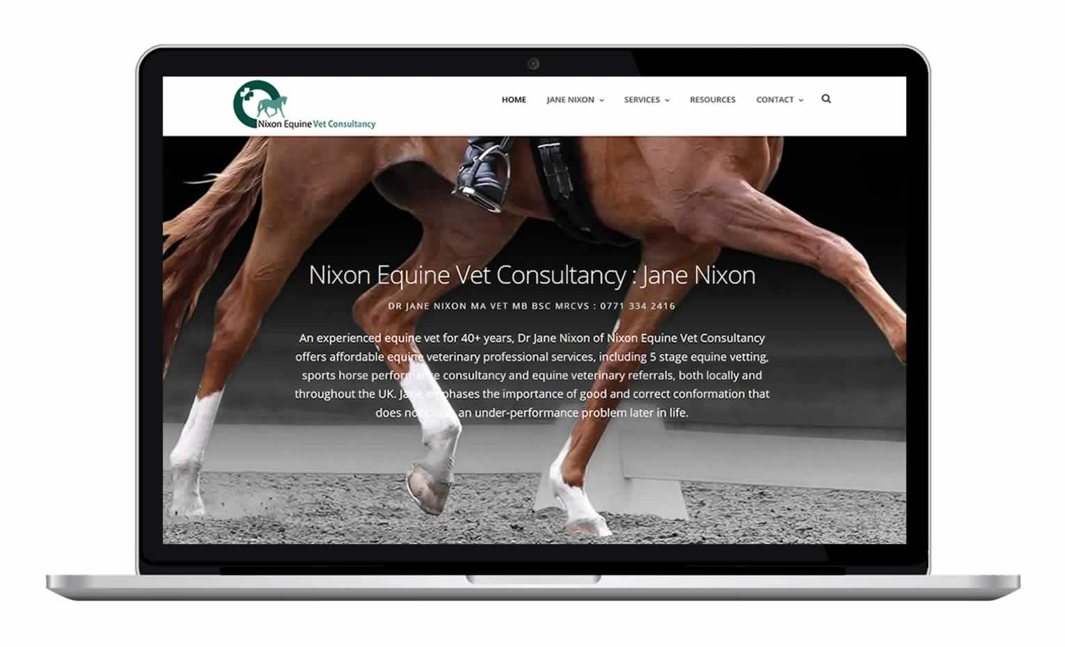 Nixon Equine Vet - Equine Veterinary Surgeon Website